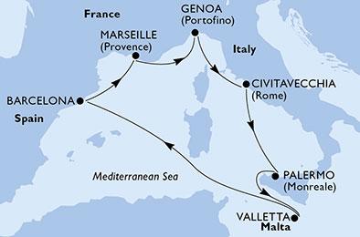 Get Msc Grandiosa Mediterraneo  PNG