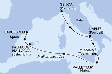 offerta MSC GRANDIOSA dal 28/03/2020 al 03/04/2020 da ...