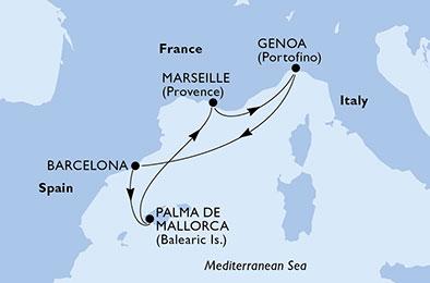 offerta MSC GRANDIOSA dal 06/11/2020 al 10/11/2020 da ...
